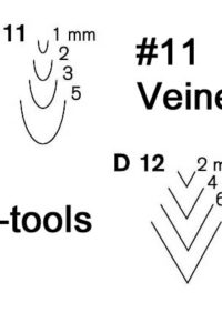 Pfeil Swiss Made Mid-size #11 Veiners and V-tools