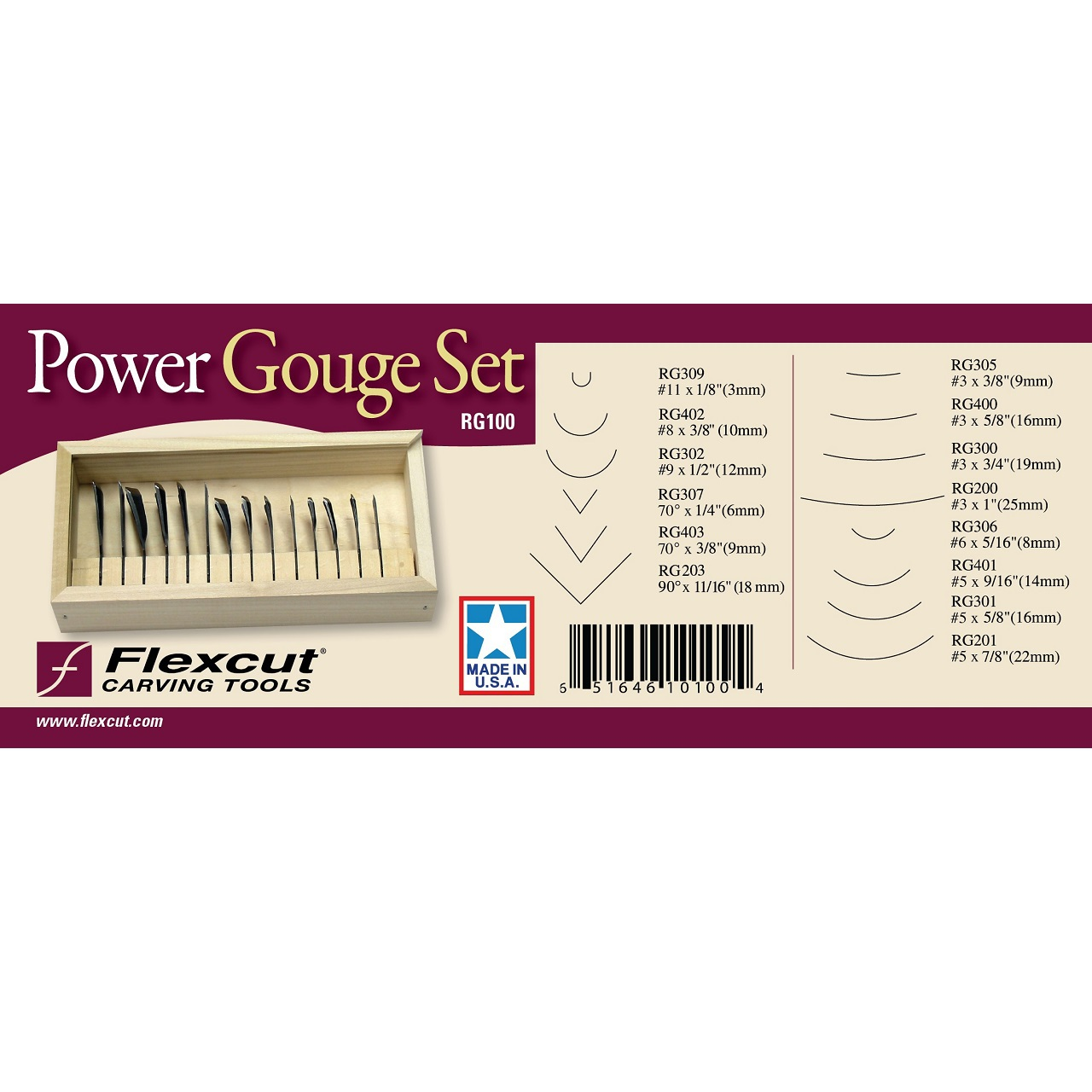Flexcut RG100 Power Gouges Set