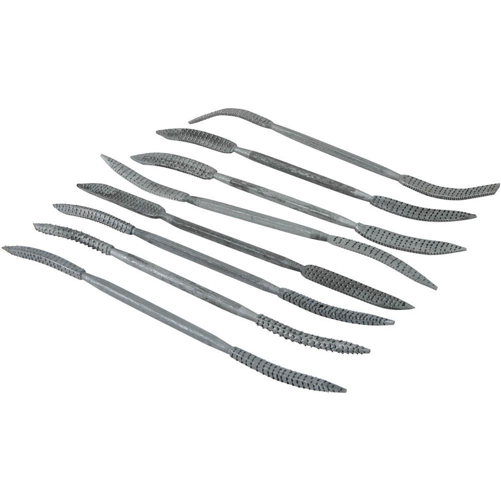 Carving Riffler Rasp Medium-Coarse 8pc Set