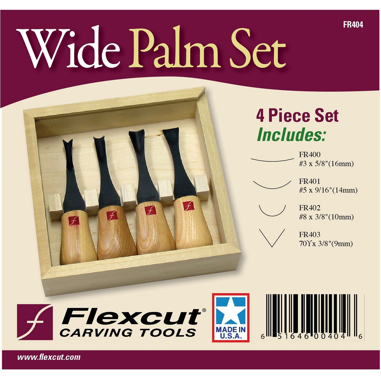 Wood Carving Wide Format Palm Set FR404