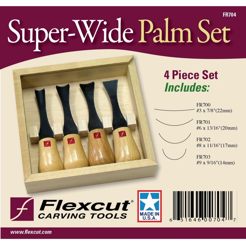 Wide Blade Woodcarving Palm Set FR704