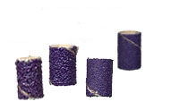 "Small Ceramic Sanding Bands 1/4"" x 1/2"""