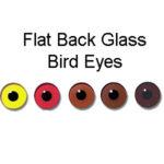 Flat Back Glass Bird Eyes