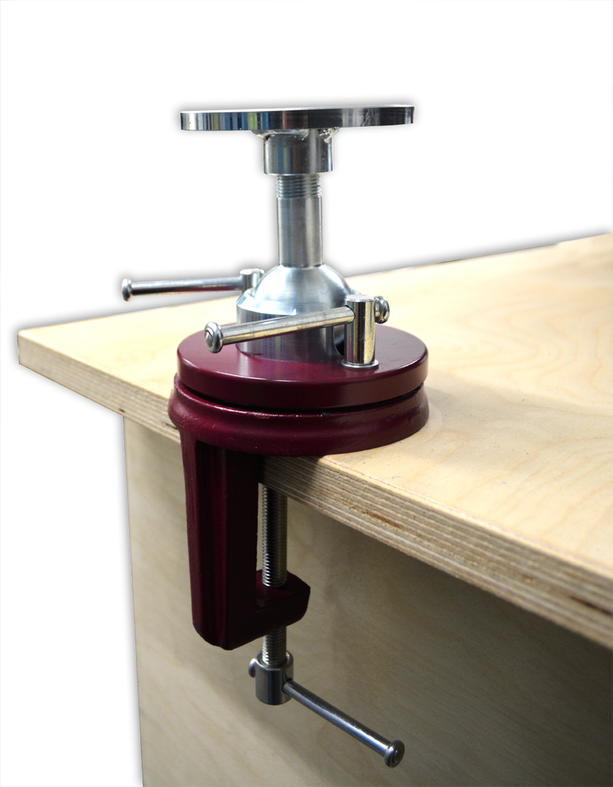 Carvers vise with clamp chippingaway
