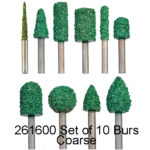 Carbide Nugget Bur COARSE Set 10pc