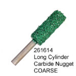 Long Cylinder Carbide Nugget COARSE Bur