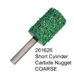 Short Cylinder Carbide Nugget COARSE Bur
