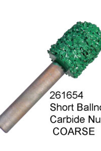 Short Ball Nose Carbide Nugget COARSE Bur