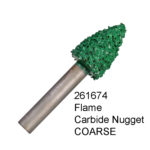 Flame Carbide Nugget COARSE Bur