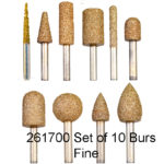 Carbide Nugget Bur FINE Set 10pc