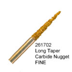 Long Taper Carbide Nugget FINE Bur