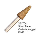 Short Taper Carbide Nugget FINE Bur