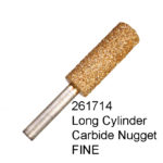 Long Cylinder Carbide Nugget FINE Bur