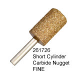 Short Cylinder Carbide Nugget FINE Bur