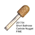 Short Ball Nose Carbide Nugget FINE Bur