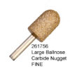 Large Ball Nose Carbide Nugget FINE Bur