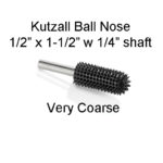 Kutzall Carving Ball Nose Bur 1/2 x 1 1/2 head