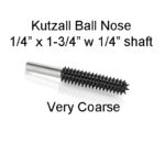 Kutzall Carving Ball Nose Bur 1/4 x 1 3/4 head