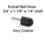 Kutzall Carving Ball Nose Bur 3/4 x 1 1/8 head