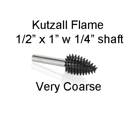 Kutzall Carving Flame Bur 1/2 x 1 head