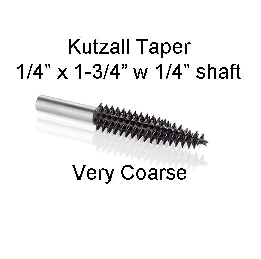 Kutzall Carving Taper Bur 1 1/4 x 1 3/4 head