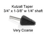 Kutzall Carving Taper Bur 3/4 x 1 3/8 head