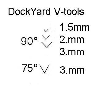 DockYard Micro Wood Carving V-tool Profiles