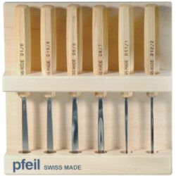 Swiss Made Pfeil Carving Tools Mid Size Set of 6