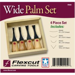 Wood Carving Wide Format Palm Set FR404