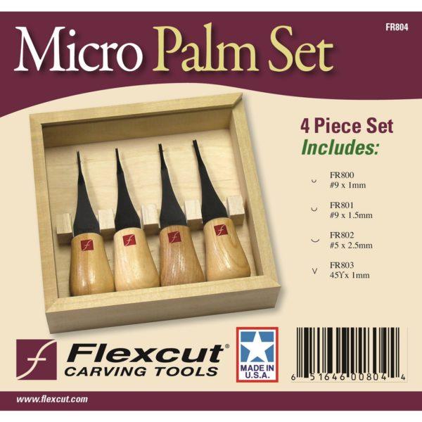 Flexcut FR804 Micro Woodcarving Palm Set