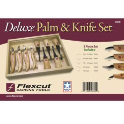 Deluxe Palm Tool Carving Knife Set