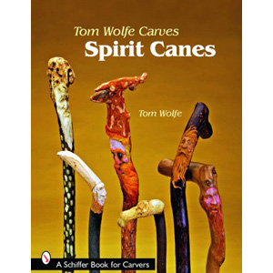 Tom Wolfe Carves Wood Spirit Canes