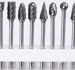 Carbide Burr Cutter 10pc Woodcarving Set