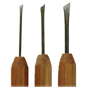 DockYard Micro Wood Carving Skew Chisels
