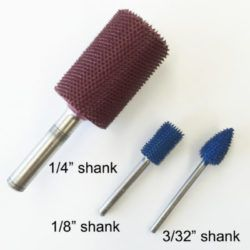 Foredom Typhoon Carving Burs 1-4inch Shaft