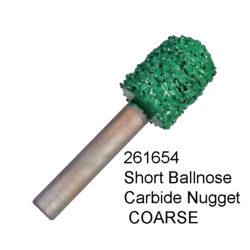 Short Ball Nose Carbide Nugget COARSE Bur