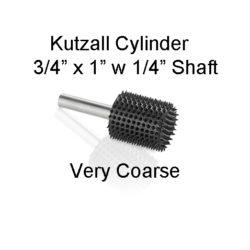 Kutzall Carving Cylinder Bur 3/4 x 1 head
