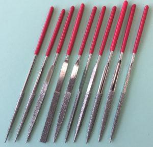 Woodcarvers Diamond Needle Files 10pc