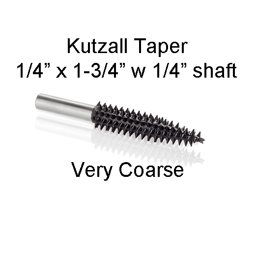 Kutzall Carving Taper Bur 1 1/4 x 1 3/4 head