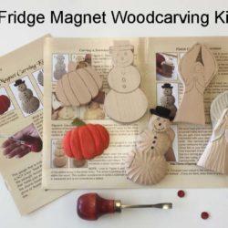 Fridge Magnet Wood Carving Kit